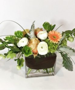 Peach Melba Flower Arrangement - -Flower Girl